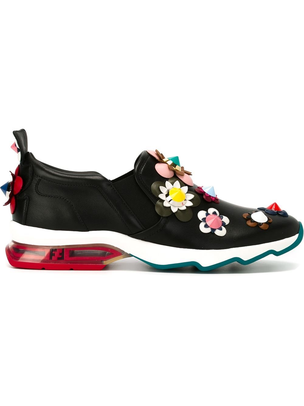Fleurs Glorious In 2018 À Baskets Shoes Fendi De Appliques q7vwnZF