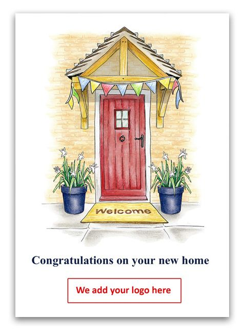 Welcome to your new home greetings card for estate agents to send to welcome to your new home greetings card for estate agents to send to their clients m4hsunfo