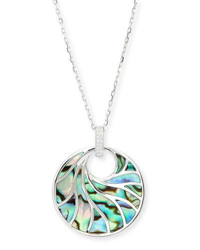 Frederic Sage Venus Abalone & Diamond Pendant Necklace kFLezC5