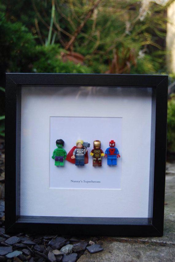 Superhero Birthday Gift Personalised Wall Art Box Frame
