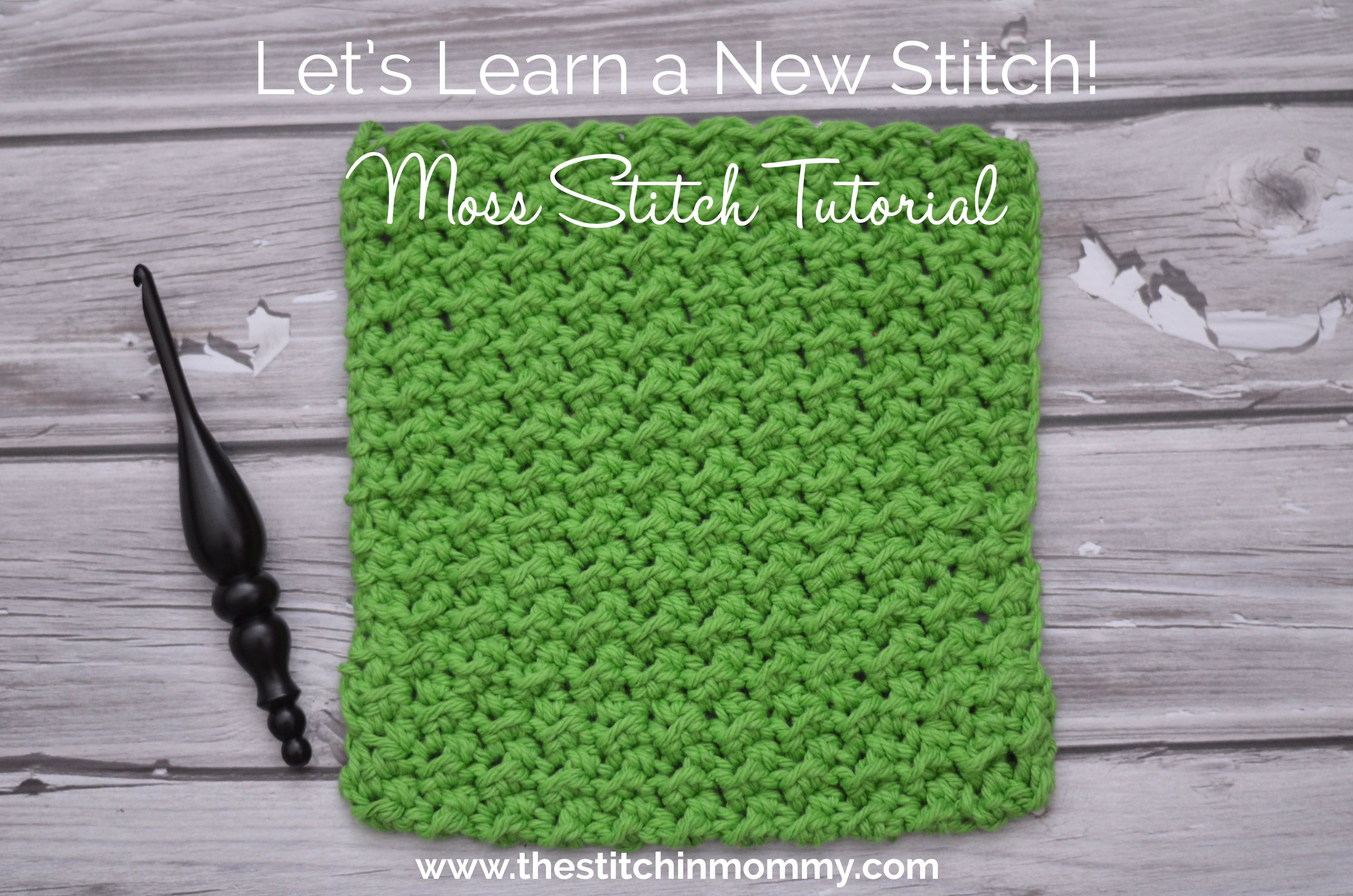 Moss Stitch Tutorial and Afghan Square Pattern | Square, Muster und ...