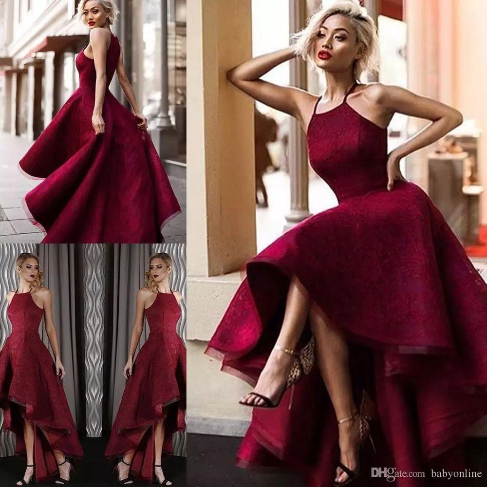sexy high low halter neck backless prom dresses arabic dubai