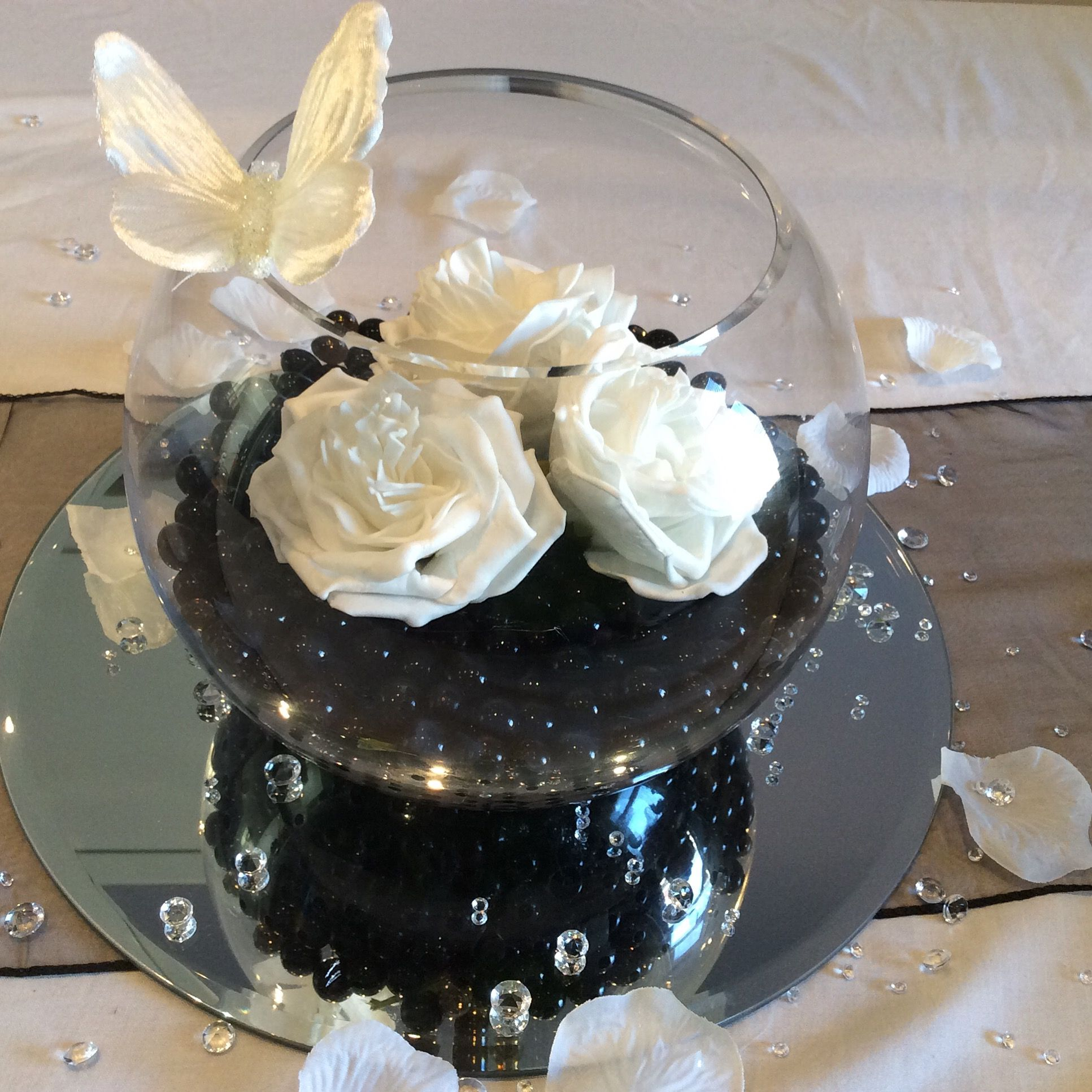 Fish Bowl Wedding Centrepiece Ideas: Fish Bowl Wedding Centrepiece For Black Themed Weddings