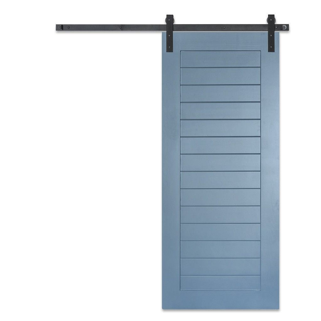 Blue Horizontal Panel Sliding Door Barn Doors Sliding Garage Door Design Modern Barn Door
