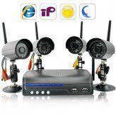 IP Camera Server with 4 Wireless Cameras