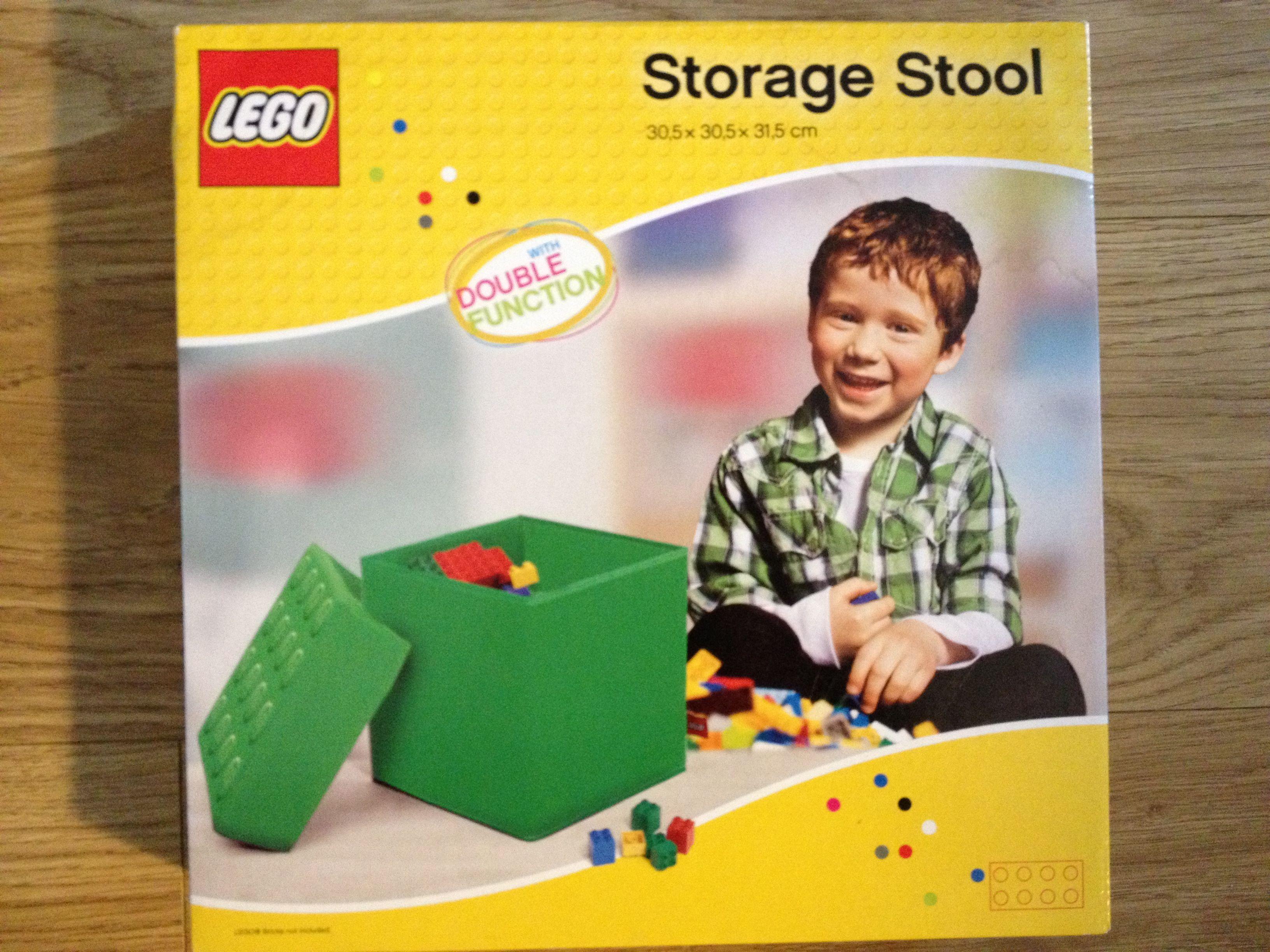 Lovely LEGO Storage Stool / Opbergpoef Groen