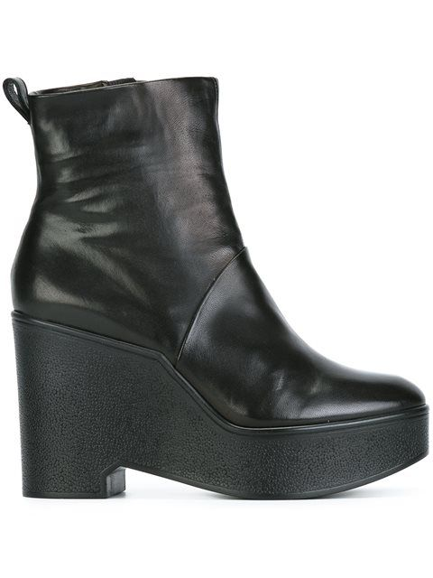Robert Clergerie Leather Wedge Booties pay with paypal sale online LSmMvi