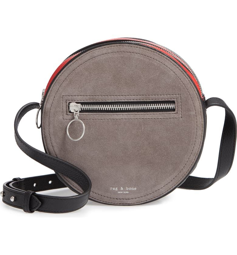 629704589 Free shipping and returns on rag & bone Leather & Suede Circle Bag  at