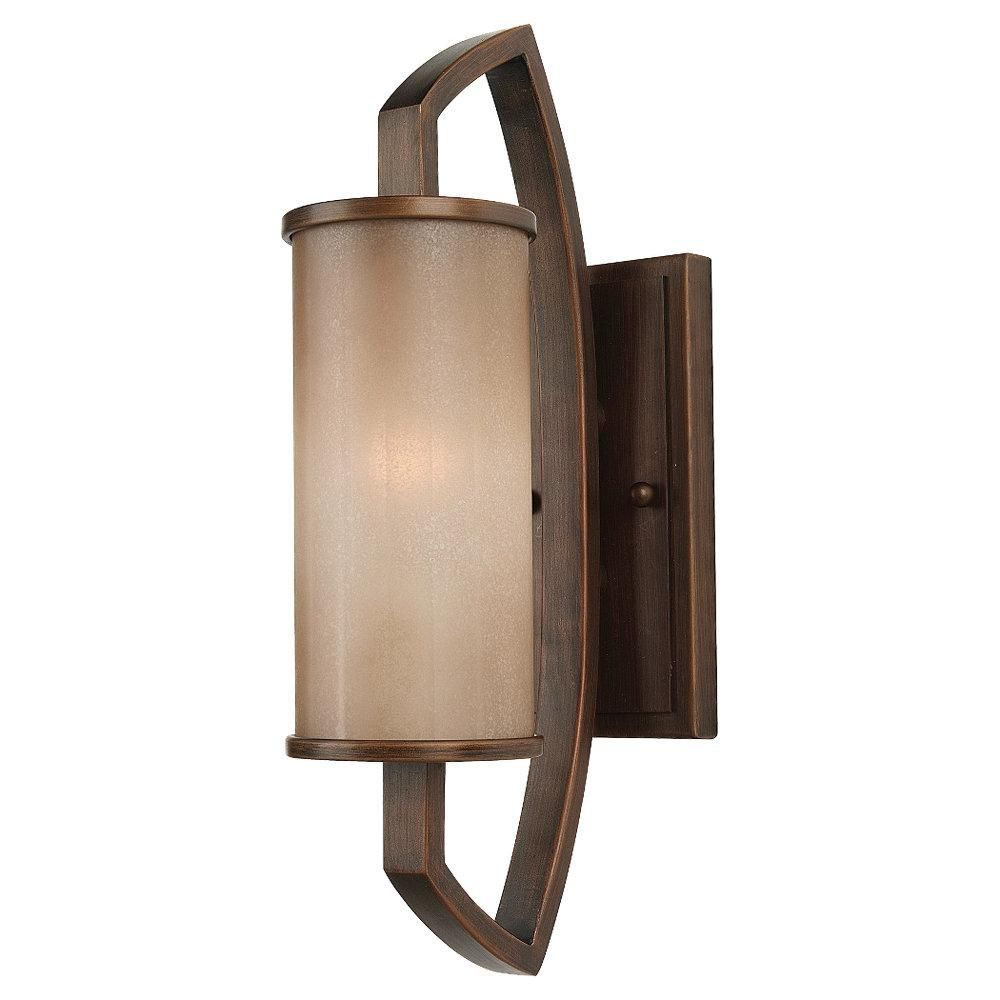 One light wood wall light sconce pecan wood finish lamparas