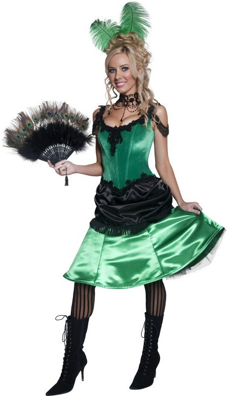 Dress for your next party or enjoy Halloween fun as the Western Saloon Girl Adult Costume.  sc 1 st  Pinterest & Déguisement cabaret french cancan femme | Creative Costumes ...