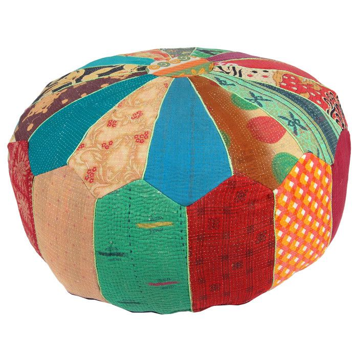 Kantha Pouf - Patterned Pillows & More on Joss & Main