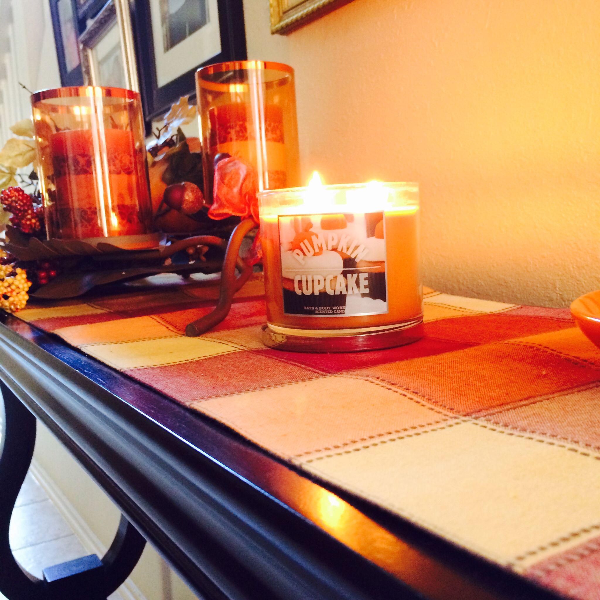 Favorite candle! Pumpkin cupcake!! Smells like heaven