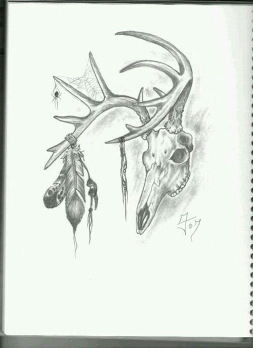 Tribal Deer Skull Tattoos Hunting Tattoos Picture Tattoos