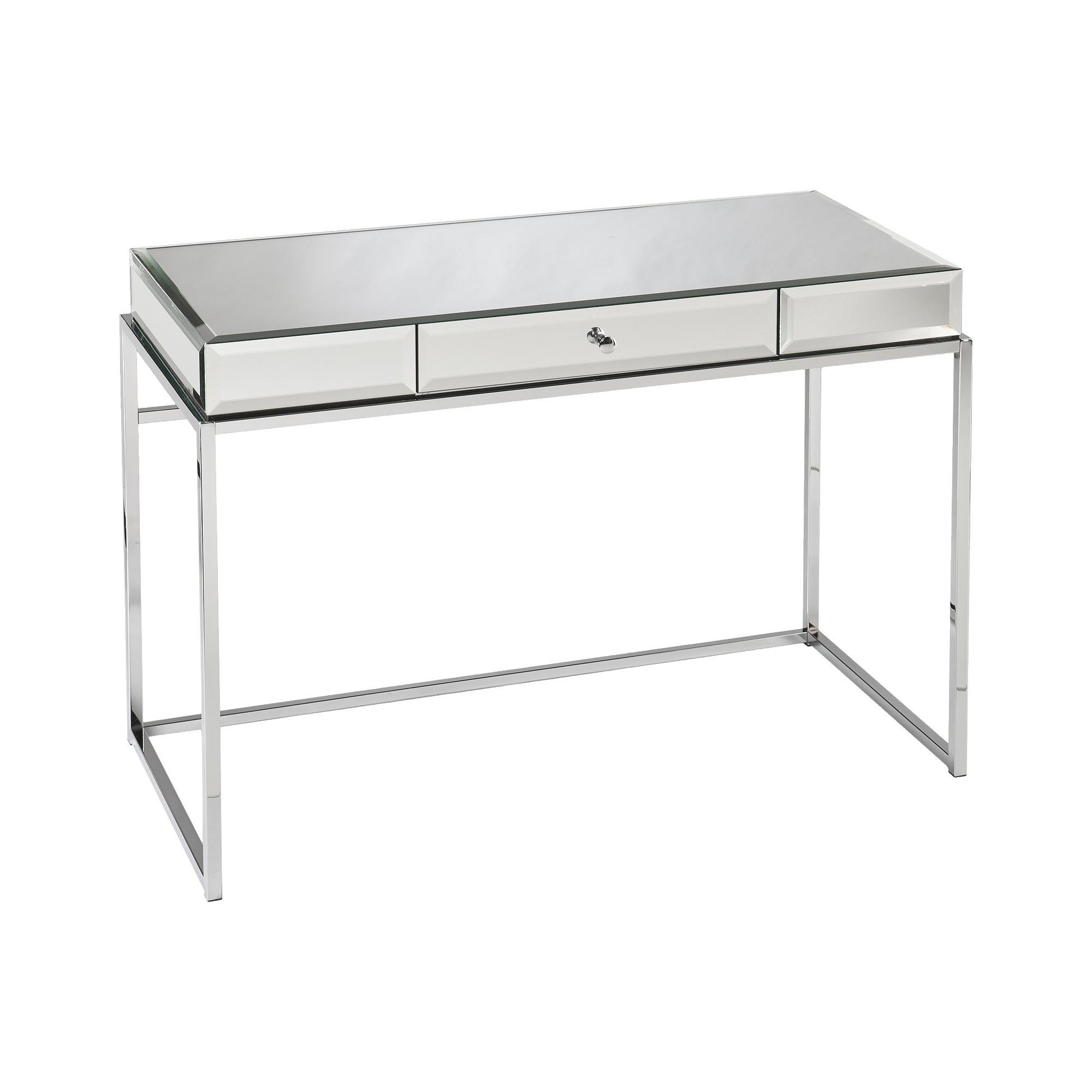 Modern glass mirrored desk aiden lane clear mirror desk modern