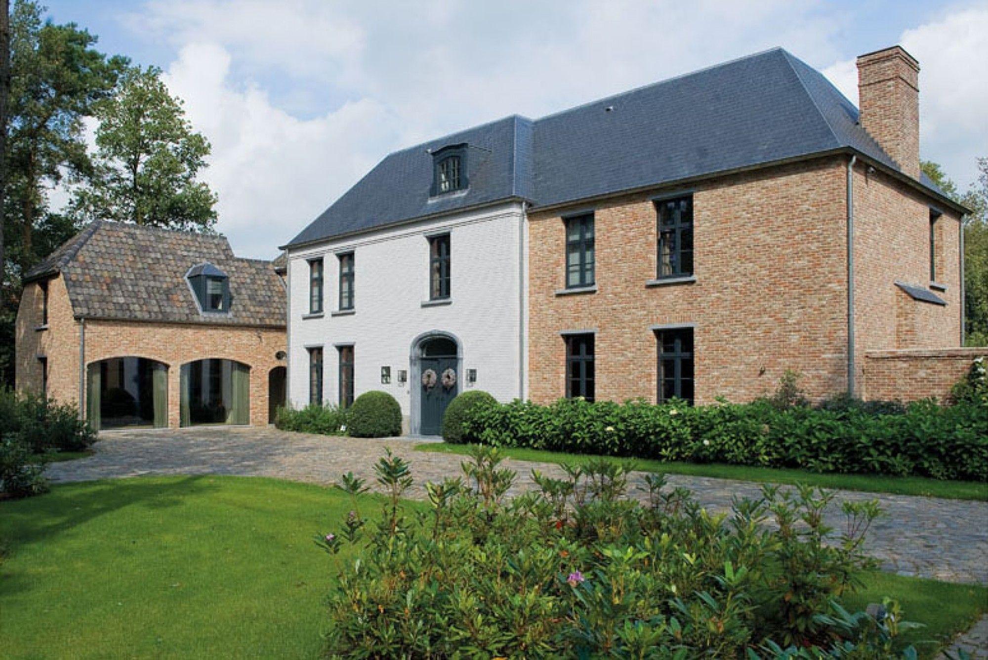Home sweet home hedendaags klassiek landhuis in het groen