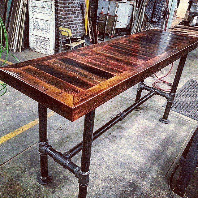 Barn Board HighTop Pipe Base Table jpg  640. Barn Board HighTop Pipe Base Table jpg  640 640    project ideas
