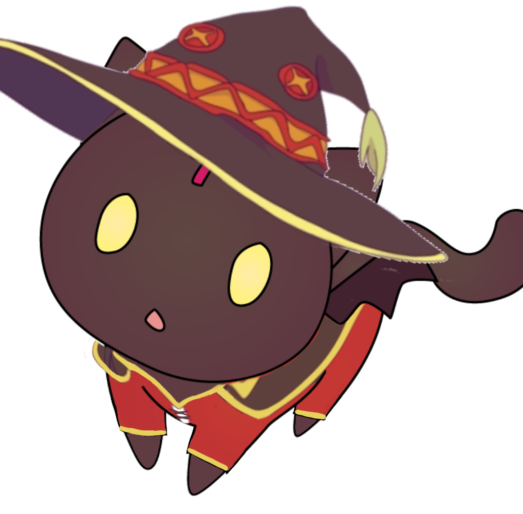 Chomusuke In Megumin Outfit Made By Me In 2021 Anime Art Anime Drawings