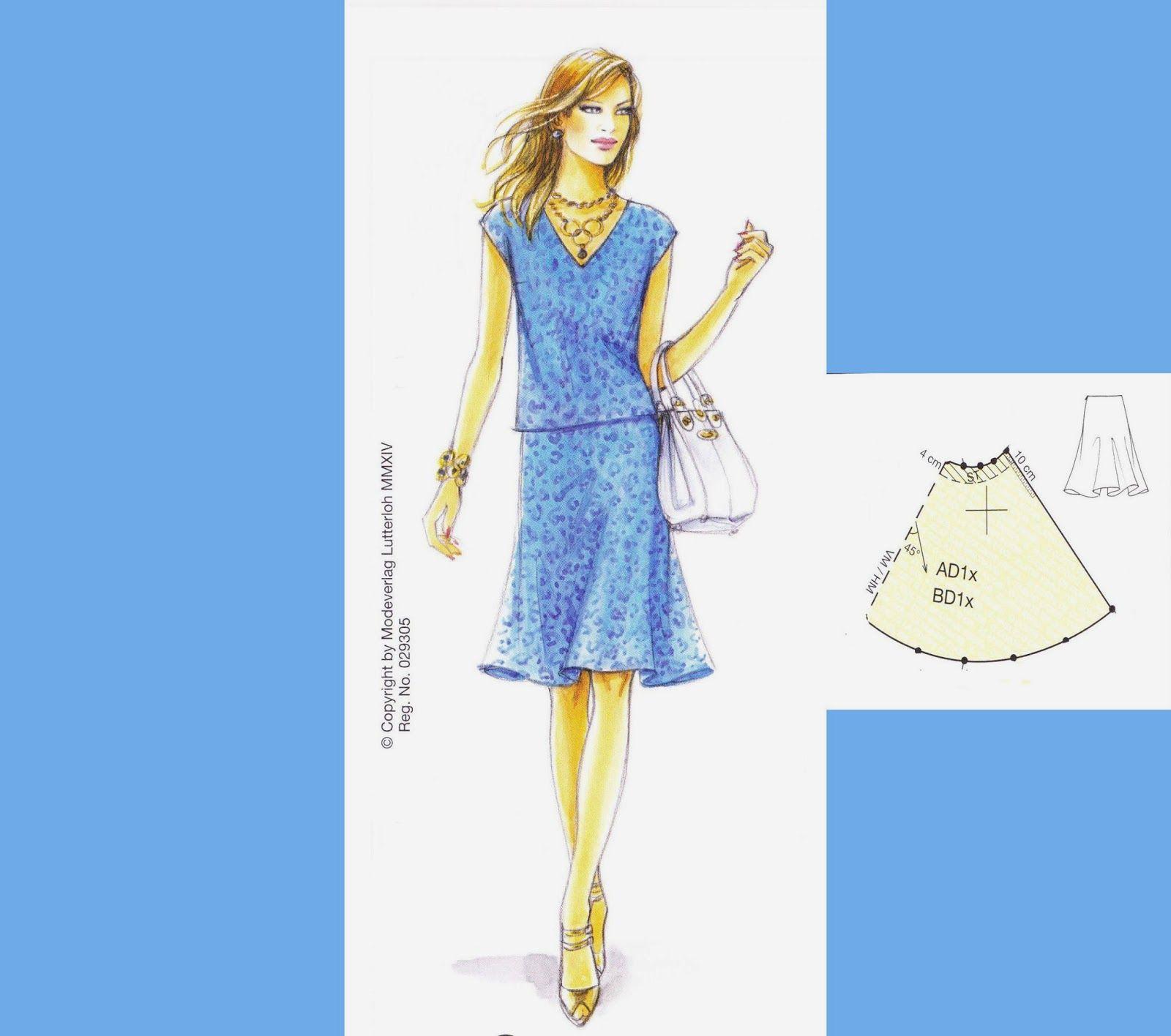 Lutterloh rok | * S - Sew & Lutterloh Patterns | Pinterest ...