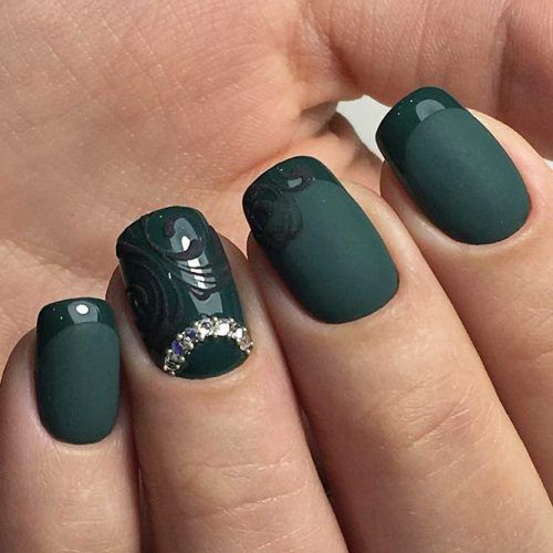 36 Fresh Green Nails Ideas To Get This Season | Green nail, Dark green nails  and Green nail designs - 36 Fresh Green Nails Ideas To Get This Season Green Nail, Dark