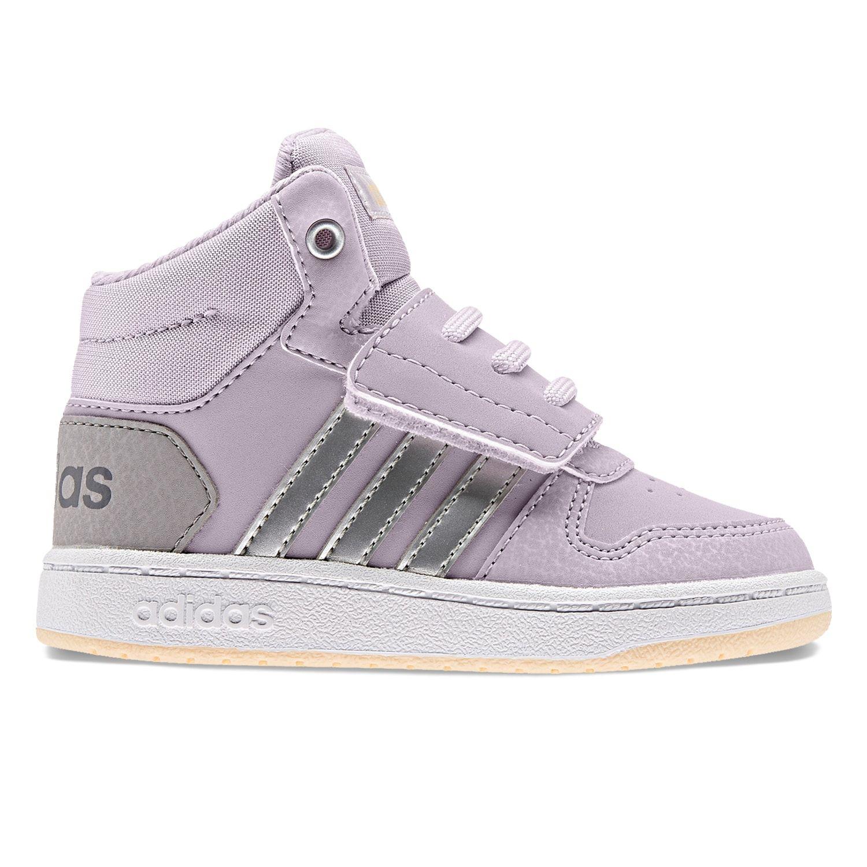 adidas Hoops Mid 2.0 Toddler Girls' Basketball Shoes | Girls ...