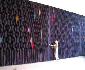 arcustic curtain - origami