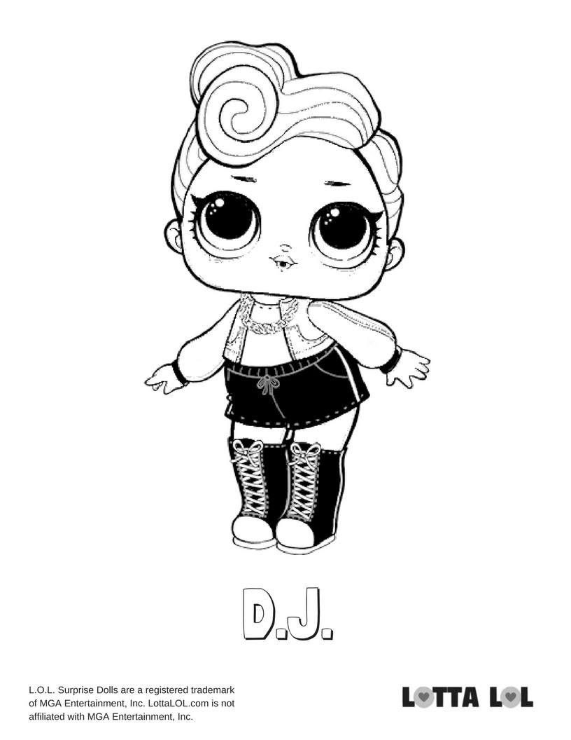 Dj Coloring Page Lotta Lol Unicorn Coloring Pages Ladybug Coloring Page Cool Coloring Pages