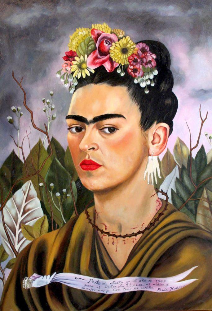 FRIDA KAHLO - Self Portrait Dr Eloesser - Canvas Art Print - 10x8  | eBay