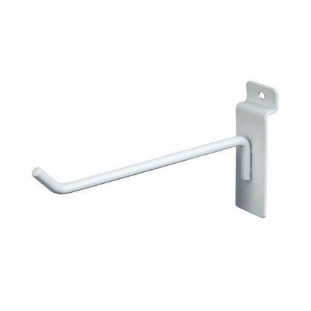 "White 50 New Slatwall Hooks Bundle 4/"" /& 6/"" 25 Each"