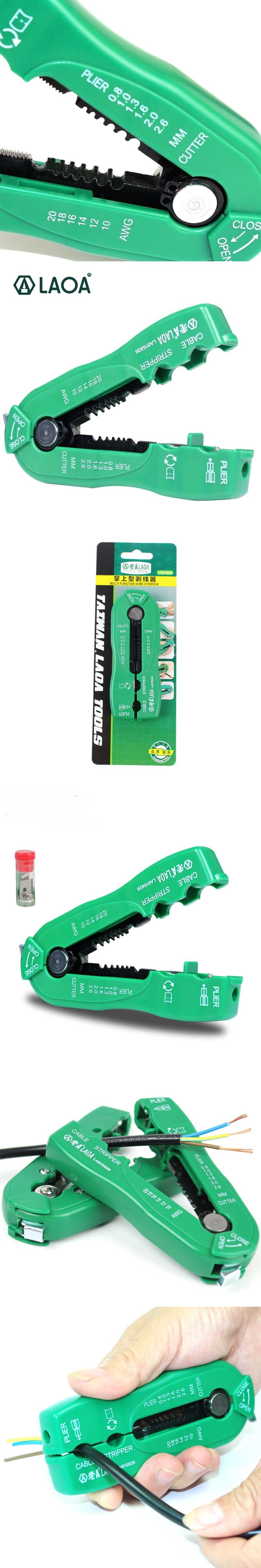 LAOA multifunction wire cutter cable stripper line wire stripping ...