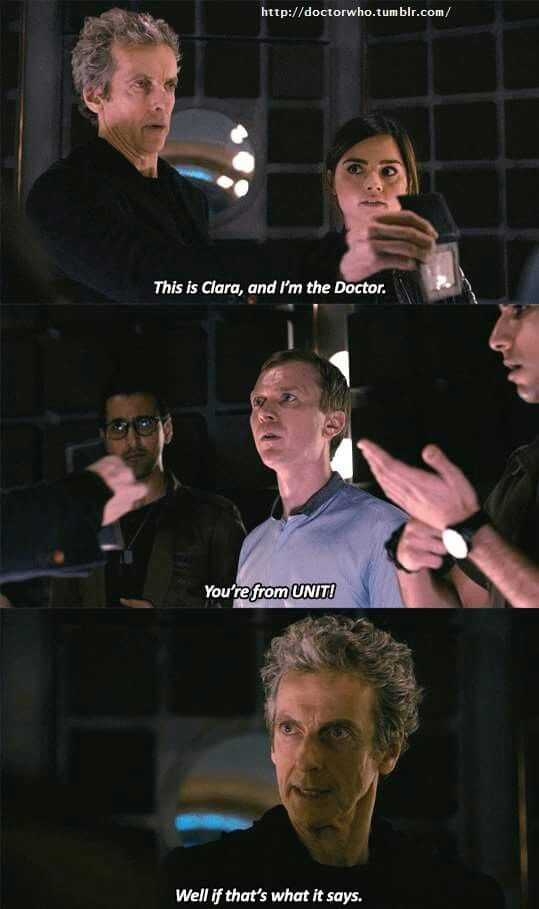 Image result for dr and clara gif psychic paper