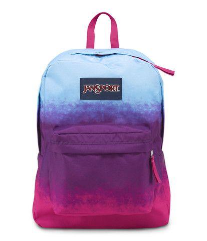 JanSport Superbreak Backpack - Purple Night Color Ombre | Bags ...