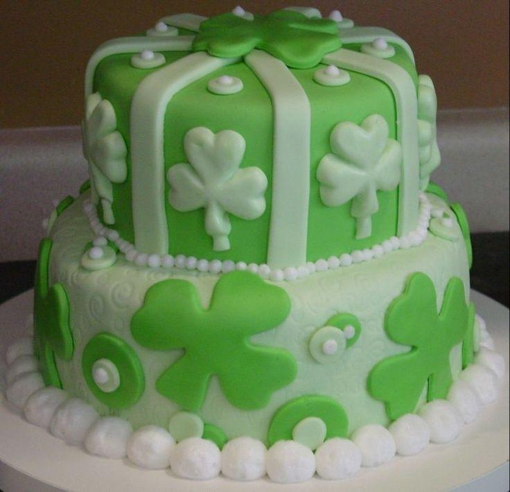 1st anniversary st patricks day cake all mmfondant