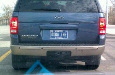 Dora The Explorer Really Funny Funny Signs Funny License Plates