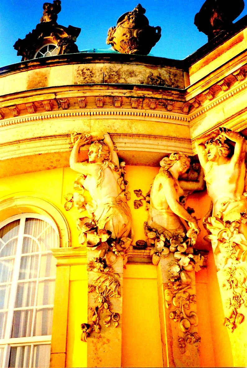 Carydids on the Summer Palace - Sansouci -  in Potsdam, Germany