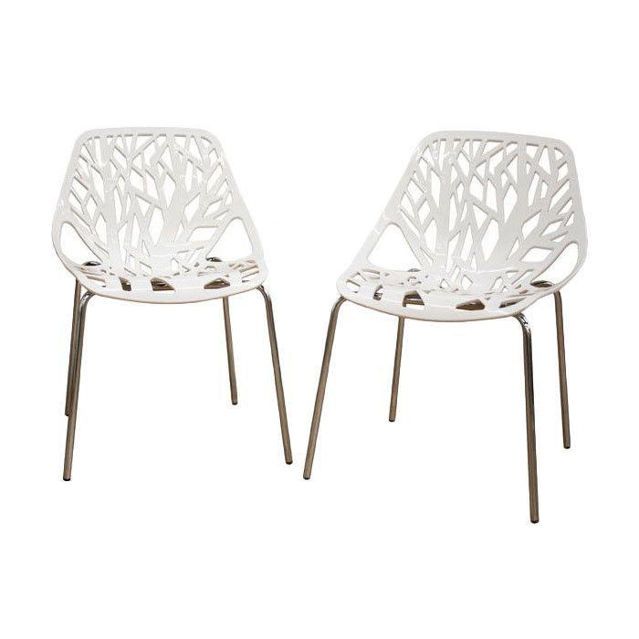 Baxton Studio Birch Sapling Dining Chair in White
