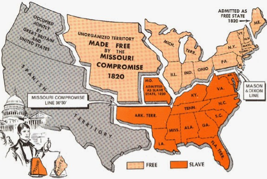 This is another map focusing on the Mason Dixon Line but this time ...