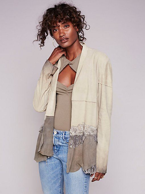 Product Image: Floral Lace Suede Jacket