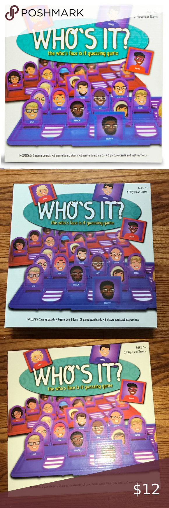 Who's It? Memory Board Game in 2020 Board games, Classic