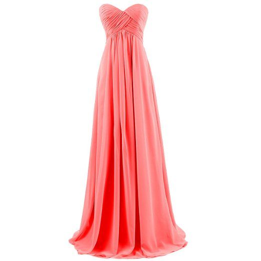 f731772ff034 Amazon.com: Dresstells Sweetheart Bridesmaid Chiffon Prom Dresses Long  Evening Gowns for Juniors: Clothing