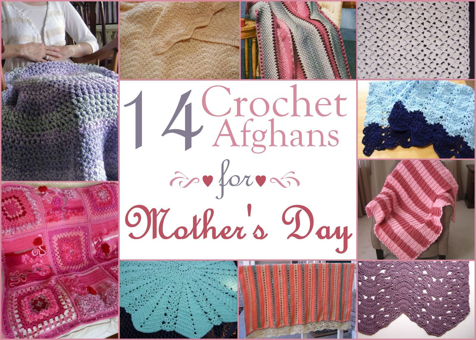 14 Crochet Afghans for Mother\'s Day Gifts | Manta y Tejido