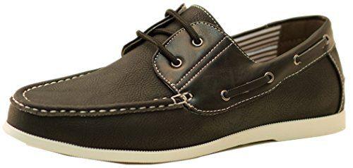 Blivener Casual - Zapatos de cordones de Otra Piel para hombre, color negro, talla 44