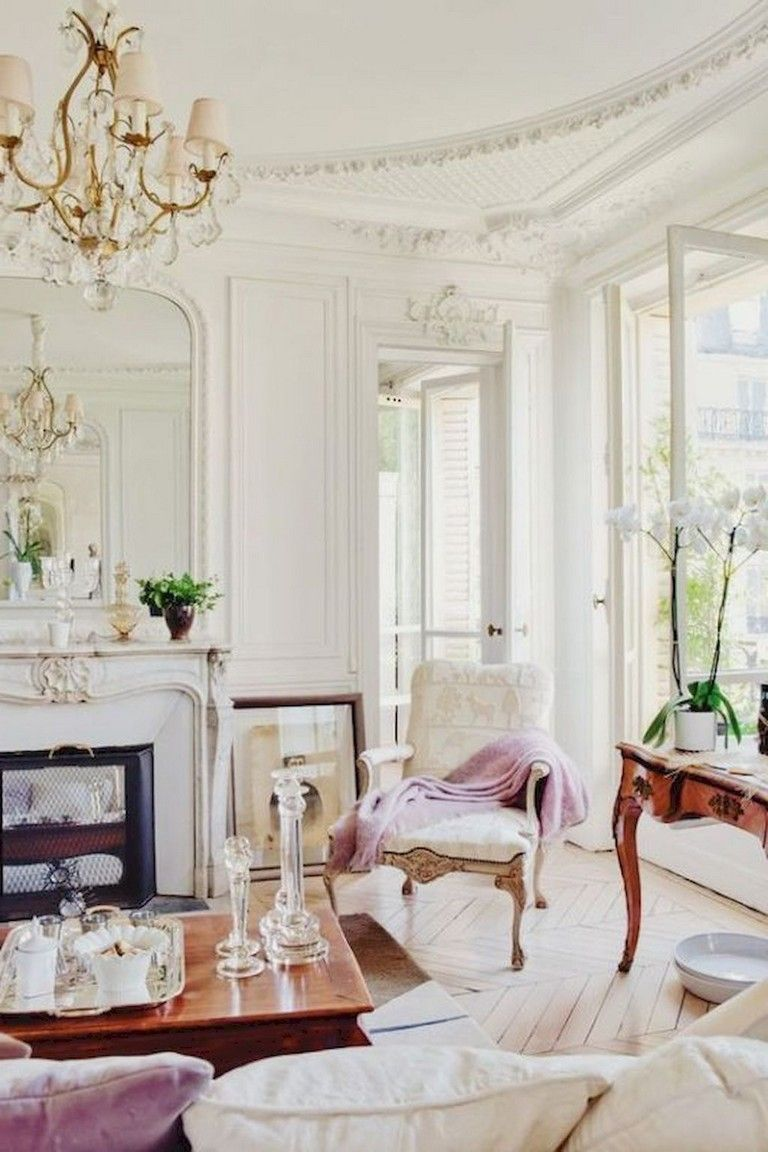 103 Amazing Parisian Chic Apartment Decor Ideas Parisian Decor French Country Living Room Chic Interior Design