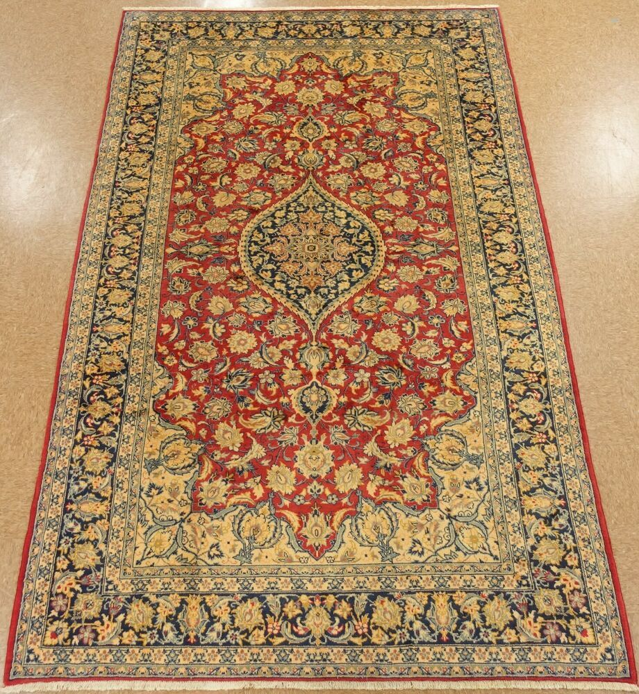 Persiann Isfahann Rug Hand Knotted Wool Majestic Elegance Red Navy Carpet 8 X 11 Persianisfahannfloral Navy Carpet Rugs Hand Knotted Persian Rug