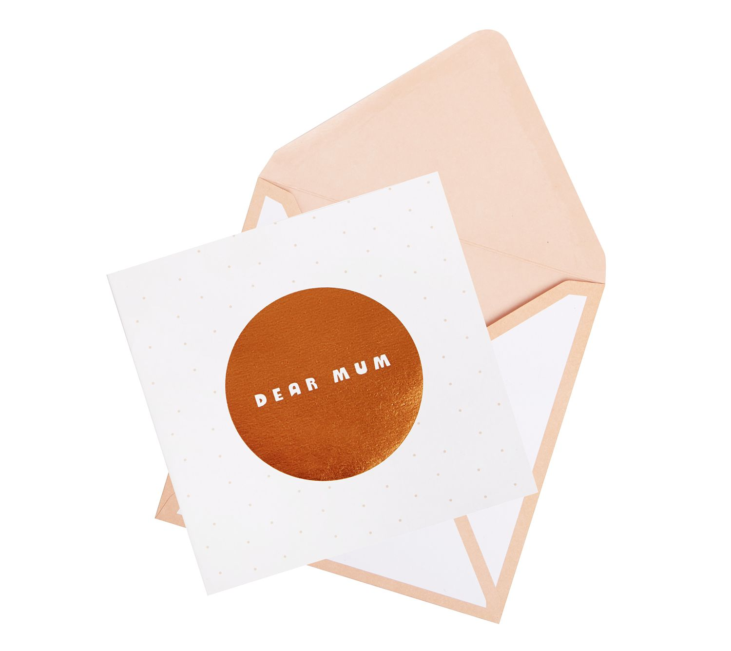 Treat your mom to this gorgeous copper foil pop up card this