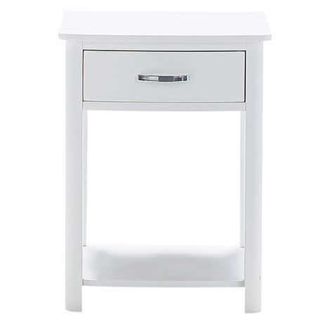 White Bedside Table willow 1 drawer bedside table | freedom furniture and homewares