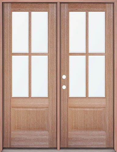 Mahogany 4 Lite Double Doors Great For A Patio Entrance