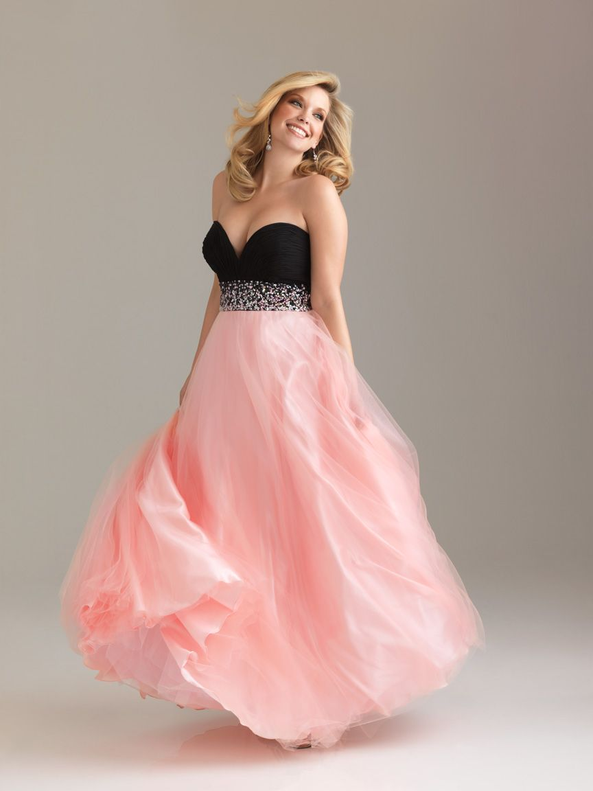 This would be an amazing wedding dress if the pink was white instead ...