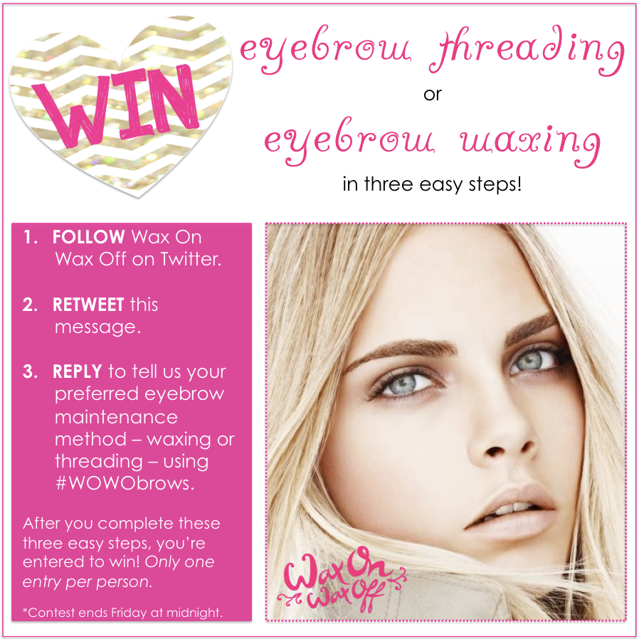 Hey Chicago Want To Win A Free Eyebrow Threading Or Waxing Visit
