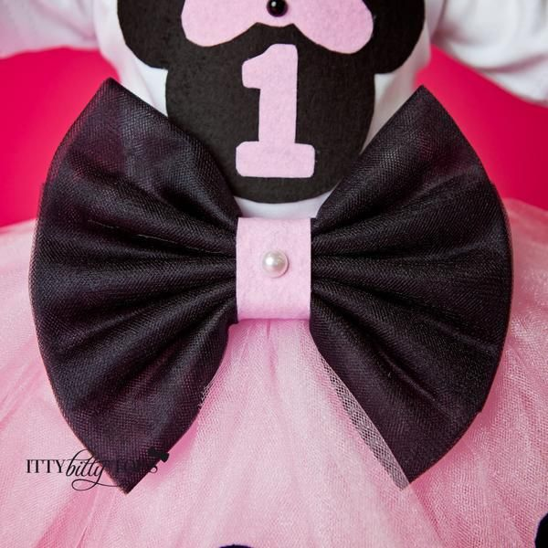 Birthday set includes white soft cotton onesie, pink tulle skirt with black bow and black polka dots... Offered by Itty Bitty Toes - Children's Boutique Online!