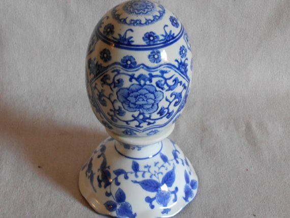 Beautiful Vintage Blue Egg with Decorative by StoreFourandMore
